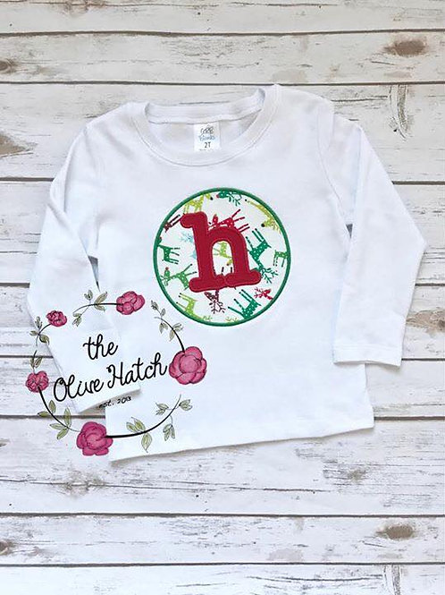 Monogram Christmas Shirt