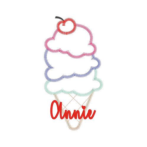Ice Cream Applique