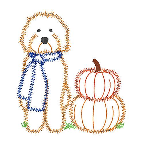 Fall Puppy Applique