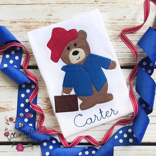 Bear Blanket Stitch-- Applique