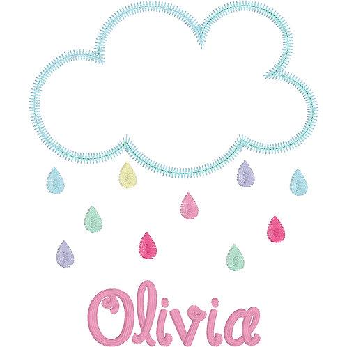 Rain Cloud Applique