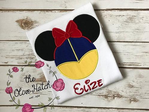 Snow Princess Mouse Ears -- Applique