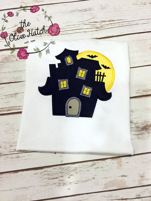 Haunted House Applique Shirt