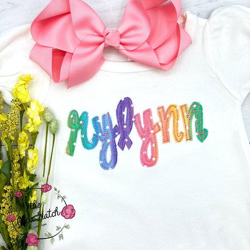 Personalized Rainbow Applique Shirt
