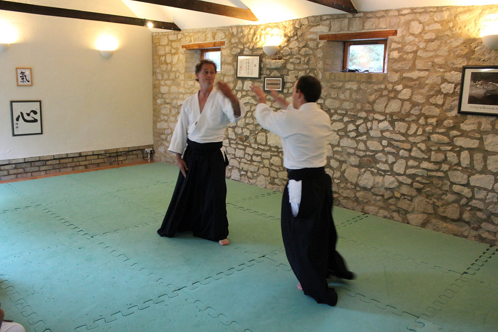Quentin & Nikos practising