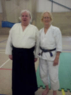 Steve Fyffe sensei with Linda Holiday Sensei