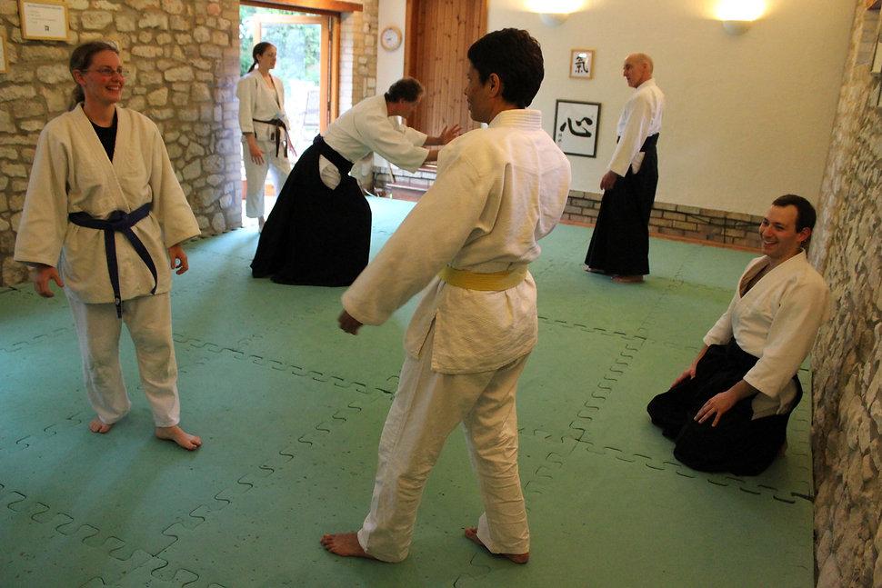 Students practising