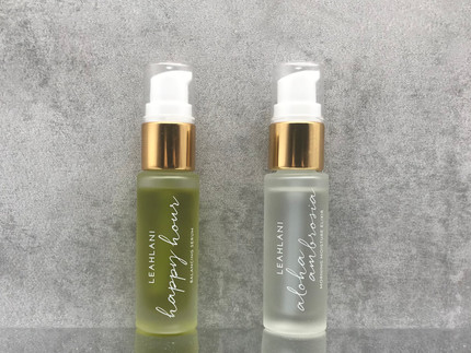 Leahlani Skincare Happy Hour Balancing Serum + Aloha Ambrosia Morning Moisture Elixir