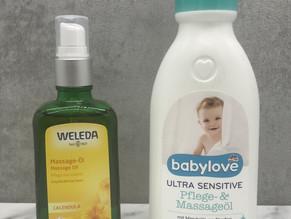 Mein liebstes Massage/Pflege-Öl (Weleda und Babylove)