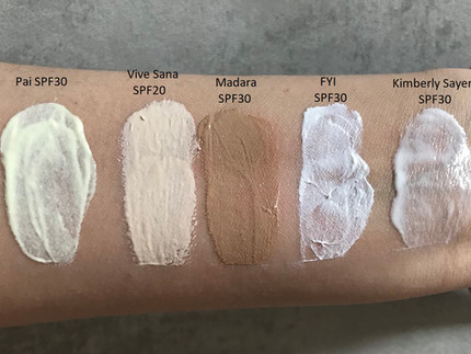 Mineralischer Sonnenschutz Gesicht Teil 2/3 - Pai, Vive Sana, Madara, FYI und Kimberly Sayer