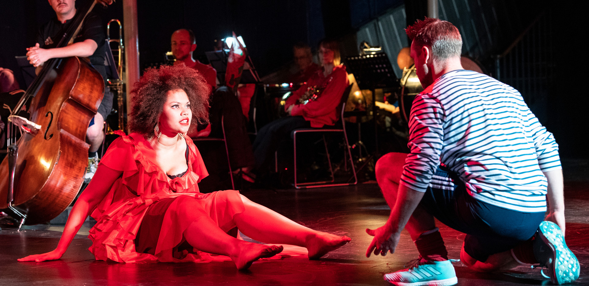 Carmen, Simone Ibbett- Brown & Tom Lowe as D'Jai