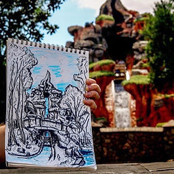 Splash Mountain In Park Art - In Progres