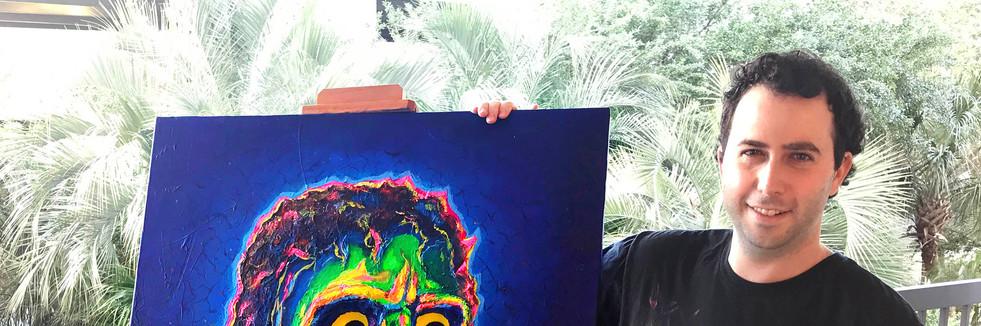 Michael Jackson Thriller Pop Art Portrait Painting - Josh Schwartz