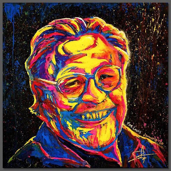 Louis Allen Tribute Pop Art Painting - Josh Schwartz