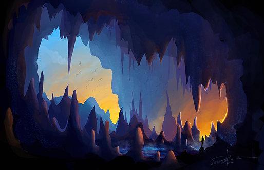 Ancient Cavern - Giclée Art Print