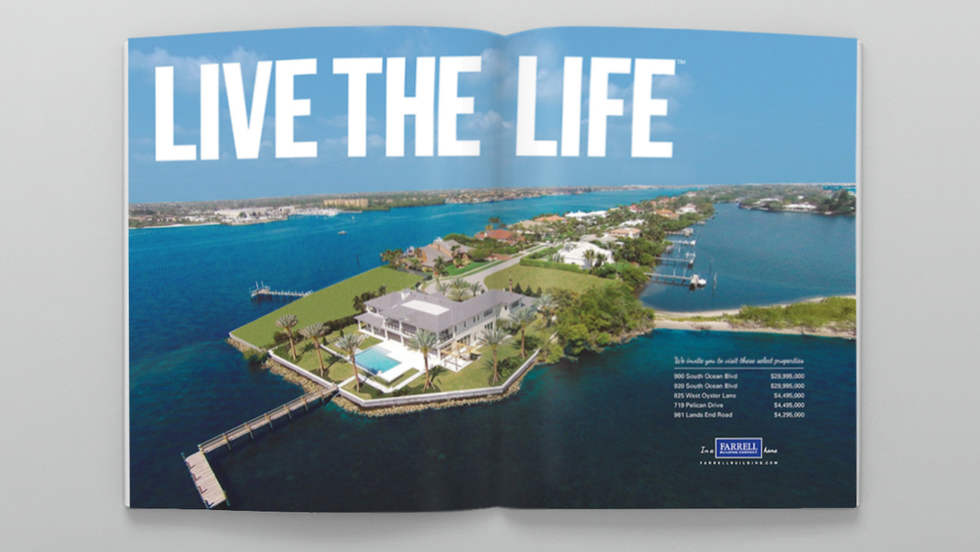 Homes and Land of the Palm Beaches Ad