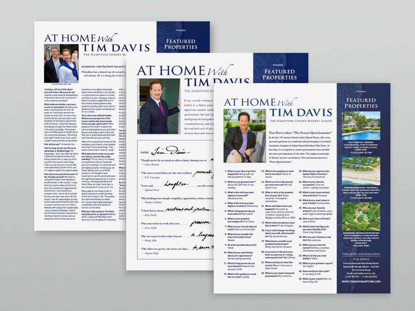 """At Home With Tim Davis"" Series – Hamptons Magazine"