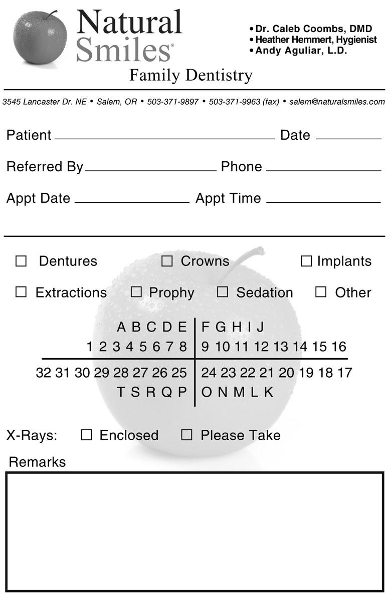 Treatment Referral Sheet