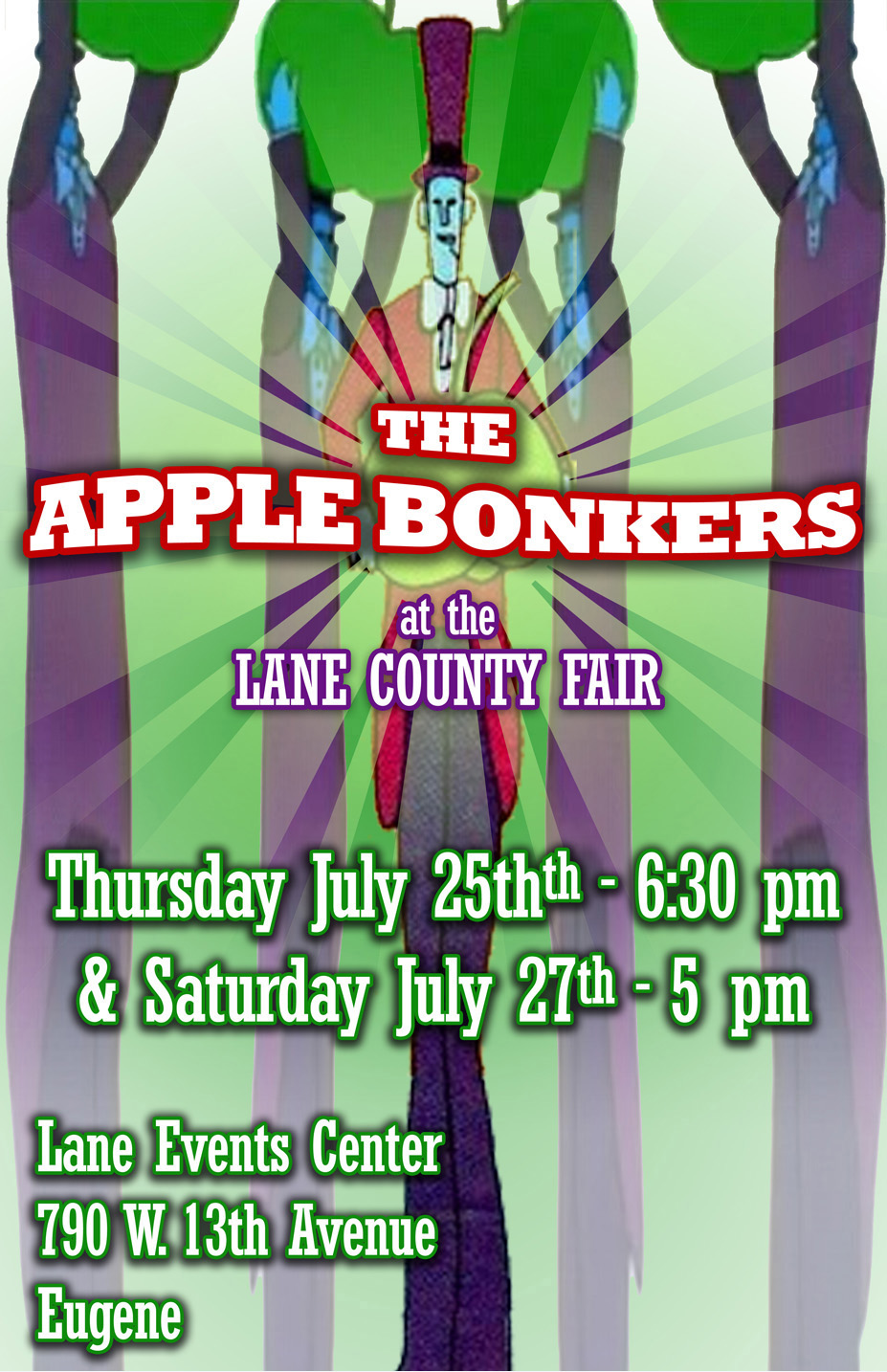 The Apple Bonkers Gig Flyer