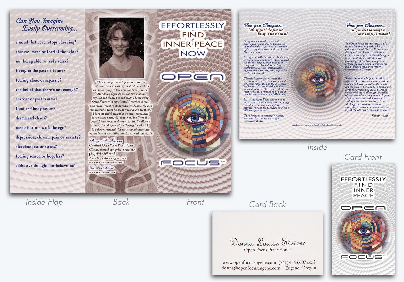 Open Focus Workshop Brochure & Cards
