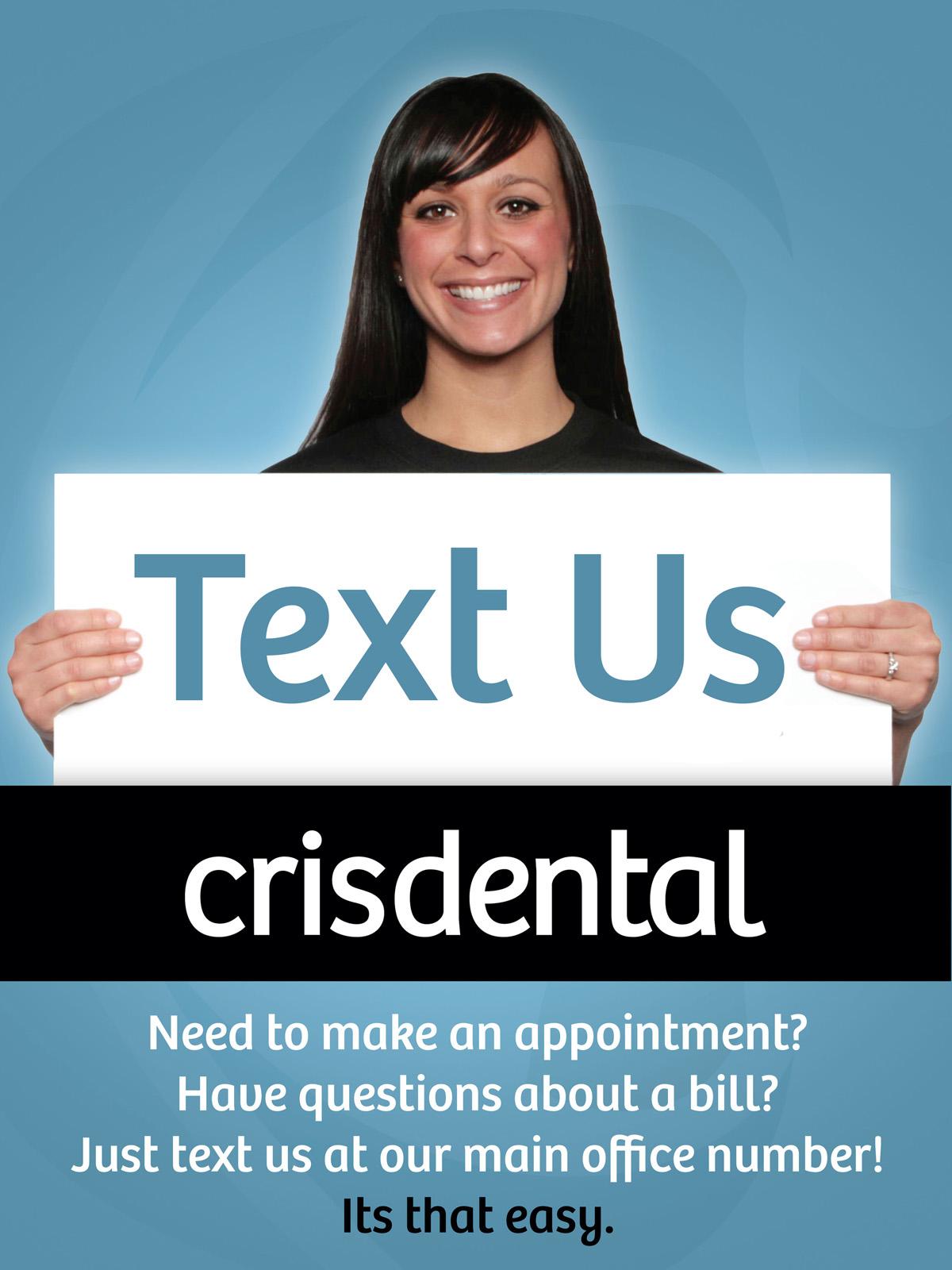 Crisdental Text Us Poster