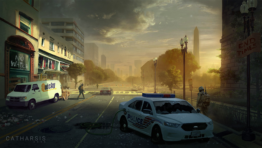 Dystopian Washington DC Streets