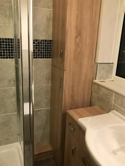Oak Bathroom Cupboard