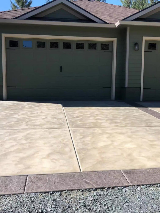 Concrete can create a functional and pleasing area in your yard