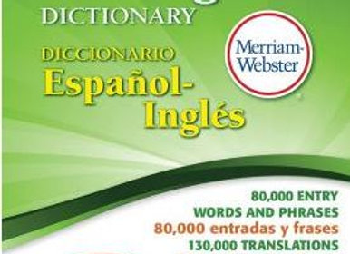Merriam Webster Español Ingles Dictionary