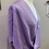 Thumbnail: Handwoven Silk Mobius Wrap in a Birdseye pattern in shades of lavender