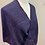 Thumbnail: Handwoven Mohair and Silk Mobius Wrap in shades of red violet, purples and reds