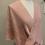 Thumbnail: Handwoven Smokey Pink Silk Mobius Shawl