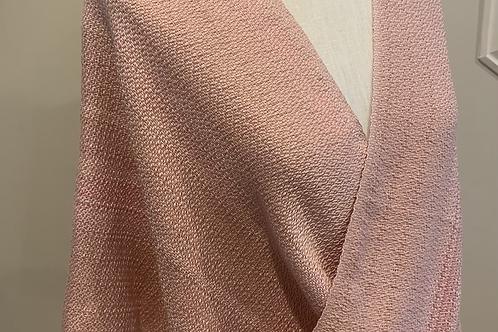 Handwoven Smokey Pink Silk Mobius Shawl