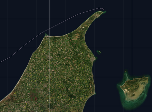The northern point rounded