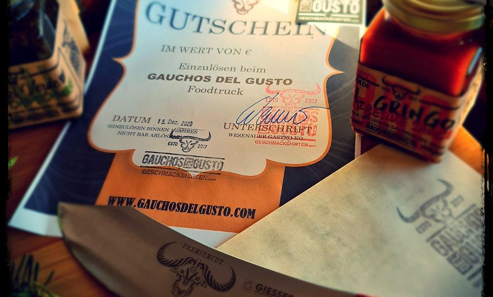 Gauchos Geschenks-GUTSCHEIN im Wert € 50.-