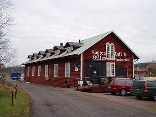 Ombyggnad järnvägsstall till café och vandrarhem