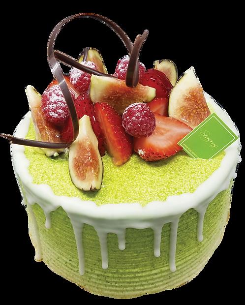 綠茶紅豆海綿蛋糕