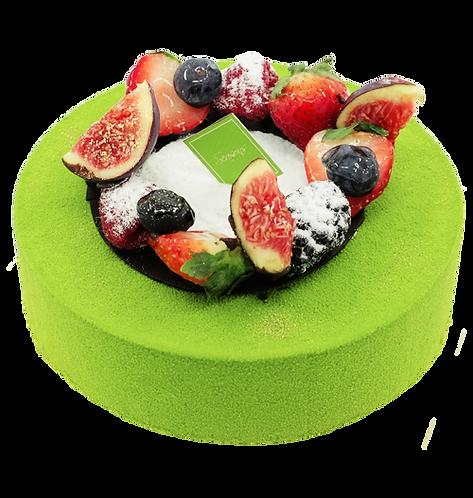 綠茶紅豆慕思蛋糕
