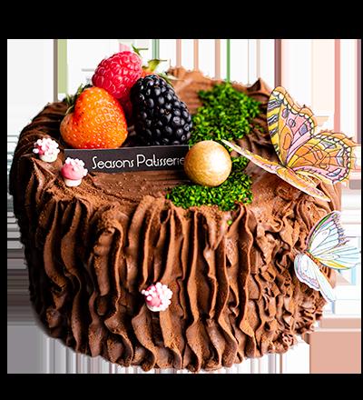 朱古力蜜桃木頭蛋糕