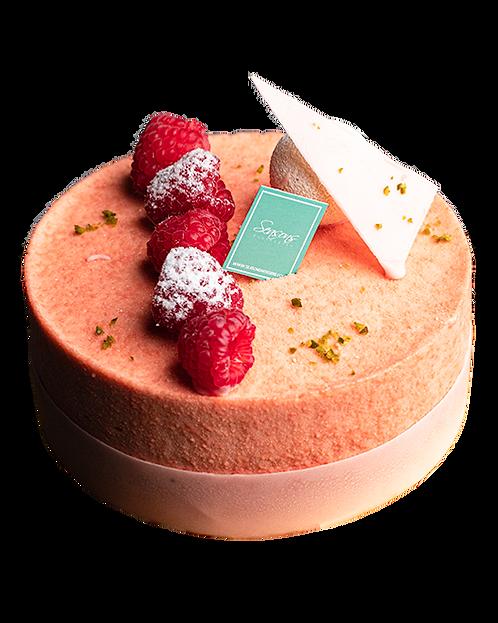玫瑰綠茶蛋糕