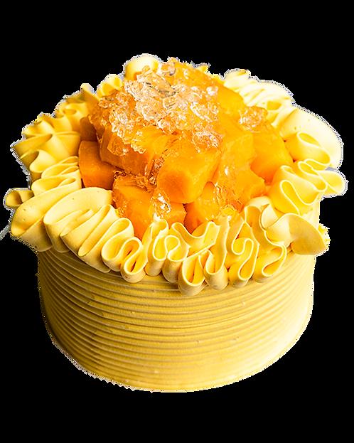 黃金芒果忌廉原味蛋糕