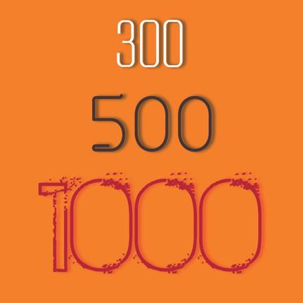 300 500 1000 !