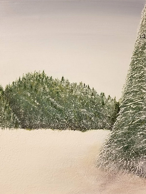Original Art - Snowing in the Pines Blended Frenchic colors & Saltwash