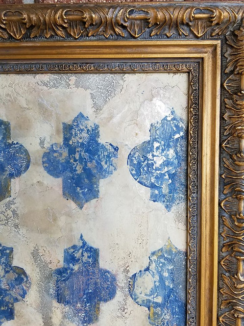 Original Art - Faded Grandeur - Mixed media. On canvas with coordinated frame