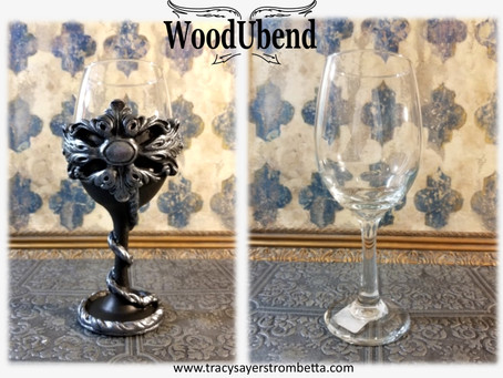 Medieval Goblet from a Dollar Store Wine Glass.....