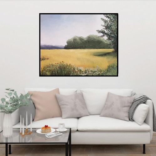 """Autumn Fields"" Shades of Monet Original Textured Painting created with Saltwash"