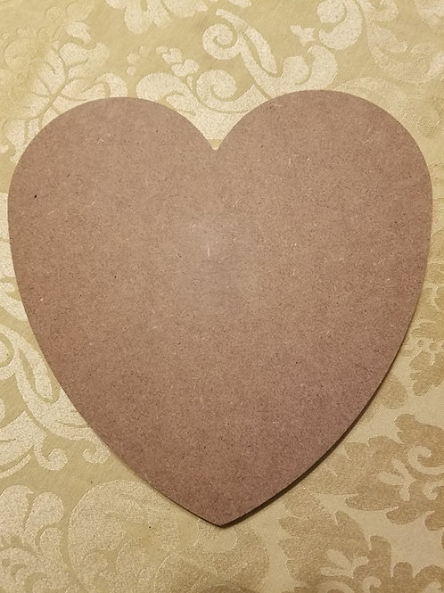 Heart Shaped Plaque MDF 9.8 x 9.9 inches