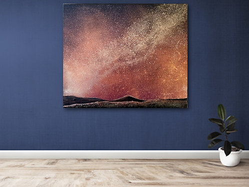 """Landing on Mars""   Original Textured Painting created by Tracy Sayers Trombe"
