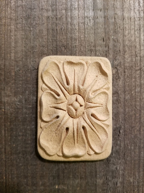 Floral Rectangle Embellishment, WoodUbend Molding, Floral applique #1662