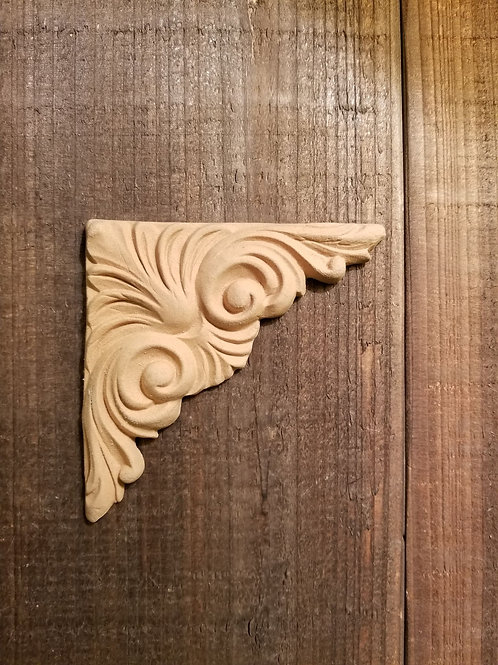 Corner Embellishment , WoodUbend Molding, Carved #1449